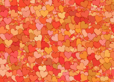 red hearts backgrounds of Love symbol Stock Photo