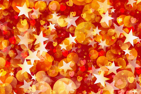 rounds: many painted stars, rounds and hearts. Holiday backgrounds Stock Photo