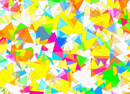 plotting: different geometrical Shapes in Chaotic Arrangement. Abstract backgrounds