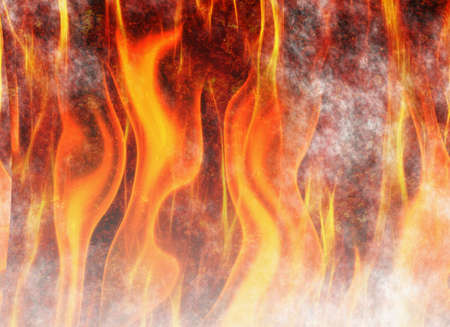 red flame fire texture background Stock Photo