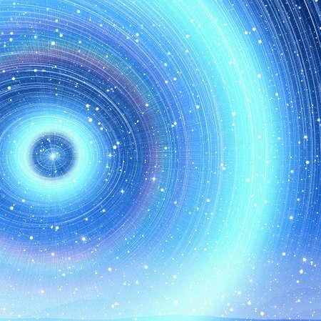Beautiful star flash trail image