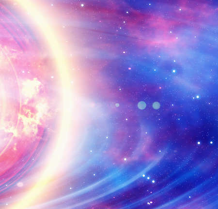 energy flash in space backgrounds