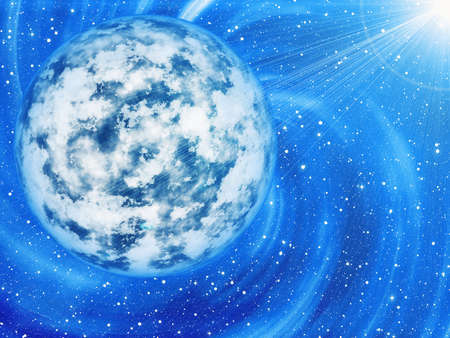 beauty space stars light background. This is no Nasa photo, it is render image Stock Photo