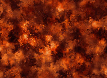burning fire burst background Stock Photo
