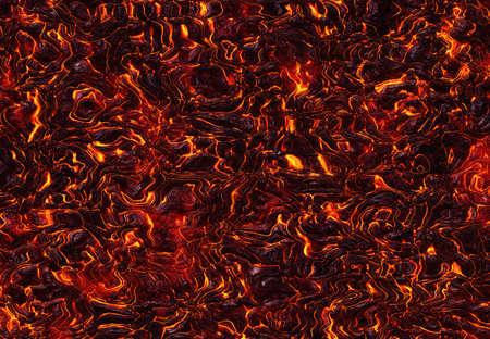 heat red lava of eruption volcano