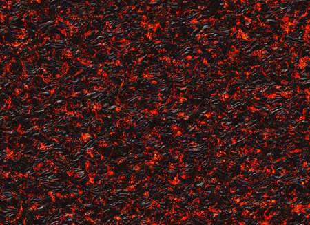 화산 화산의 응고 된 용암 질감