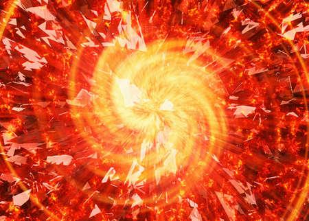 burst flash of broken star background