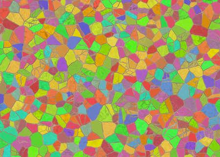 arrangement color mosaic from wild stones Stock Photo