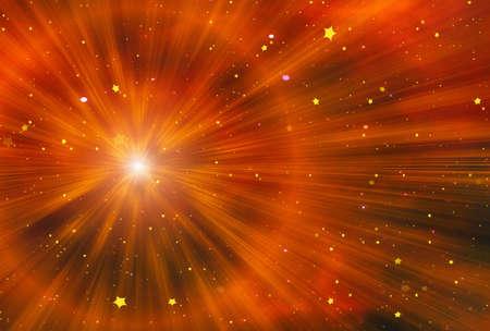 beauty space stars flash background Stock Photo