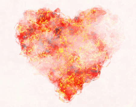 abstract heat fire heart background
