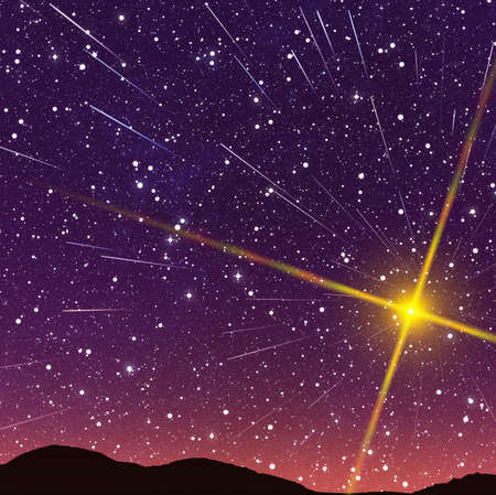 Beautiful stars trail image during at night 스톡 콘텐츠