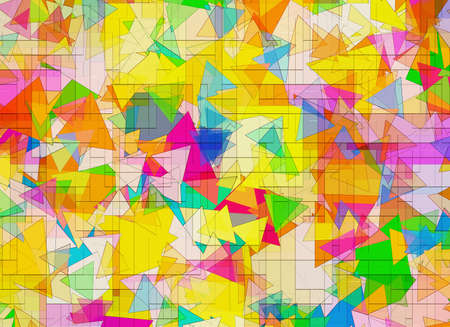 different geometrical Shapes in Chaotic Arrangement. Abstract backgrounds