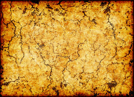 dry cracked ancient wall texture backgrounds with frame Stock Photo