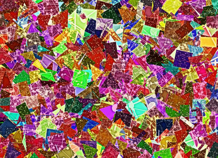 patchwork science colorful background