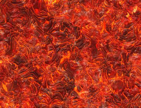 heat red lava texture of eruption volcano