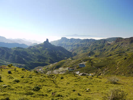 View from the mountain Pico de las Nieves, Gran Canaria to Tenerife on a beautiful day