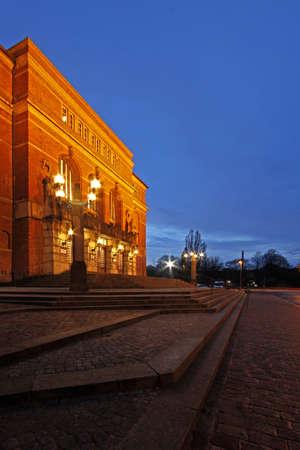 atilde: Opera from Kiel at Night Editorial