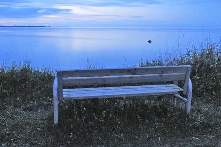 Bank mit Blick auf die Ostsee in Eckernförde