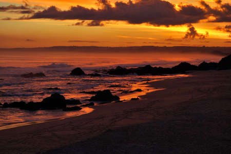 sunset with a view to Plettenberg Bay in South Africa