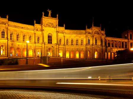The historical building Maximillianeum in Munich, city of Bavaria - where the famous October festival is located in Munich, Germany Stok Fotoğraf
