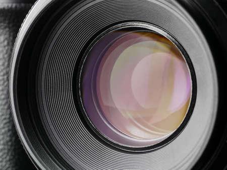 camera lens - shot - blades close and open, Kamara Objektiv - auslösen - Blende öffnen und schließen Stok Fotoğraf