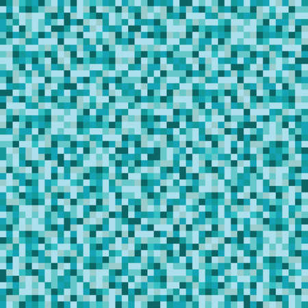 blue tone: Abstract blue tone square pixel mosaic background