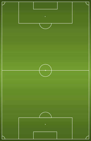 soccer pitch: Green football soccer field. Vector illustration background