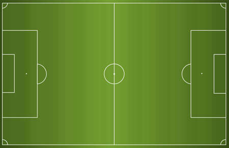 photo realism: Green football soccer field. Vector illustration background