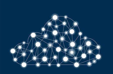 comunication: Cloud computing concept, world internet comunication network
