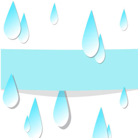 inclement: Water drop pattern. Text can be added. Vector illustration