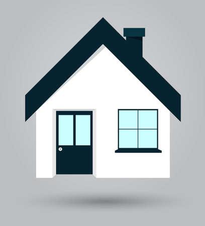 designe: House icon flat designe. Isolated vector illustration Illustration