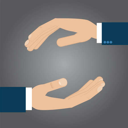 protection hands: Protection hands sign. Text can be added