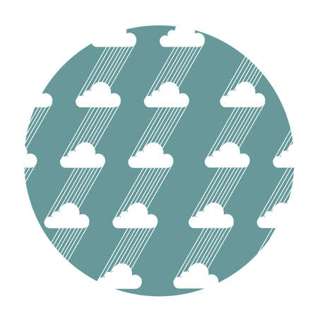 cloudburst: Seamless pattern with clouds and rain. Vector illustration