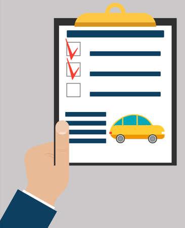assistent: Checklist or todo-list on paper tablet. Vector illustration