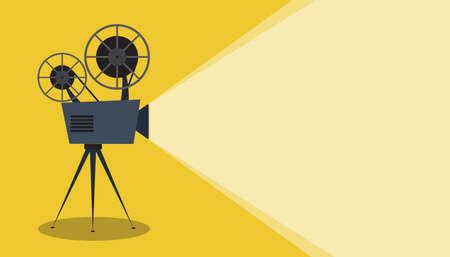 Retro cinema icon with text place, vector illustration Stock Illustratie