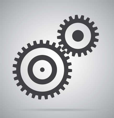 Gear with place for your text. Vector illustration