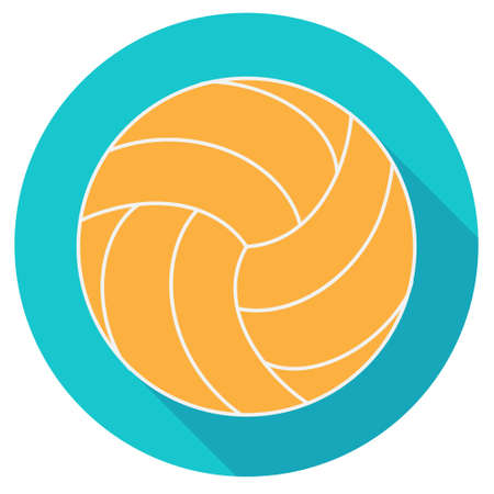 water polo: Yellow water polo ball, flat designe, vector illustration Illustration