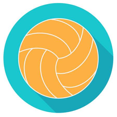 designe: Yellow water polo ball, flat designe, vector illustration Illustration
