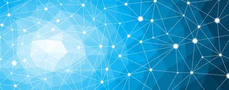 構造分子と通信ノード、ニューロン。科学の背景を抽象化します。ベクトル イラスト EPS 10