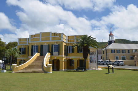 Historic Customs House at the Christiansted National Historic Site in Christiansted, St. Croix, U.S.