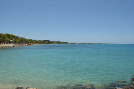 Beautiful ocean view from the shores of Frederiksted, St. Croix, U.S. Virgin Islands.