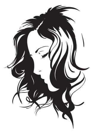 sketchy: Hand-drawn fashion model. Vector illustration. Woman