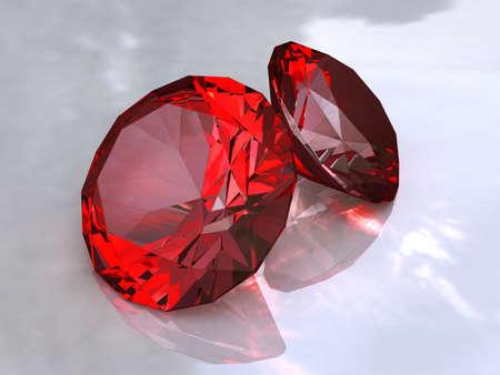 piedras preciosas: Ruby - cristales rojos