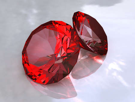 Ruby - red crystals