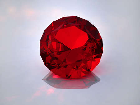 Ruby on a white background photo