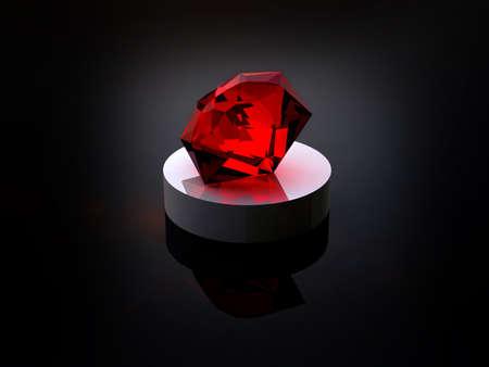 pietre preziose: Rubino su sfondo nero