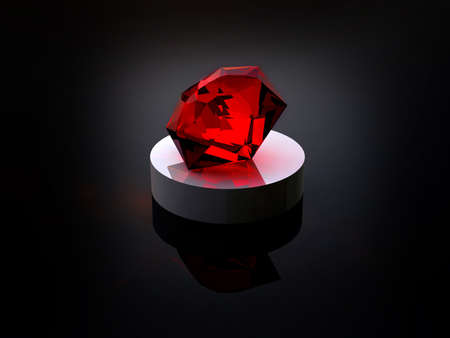 ruby: Ruby on a black background