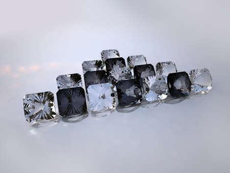 black and white diamonds on a white background photo