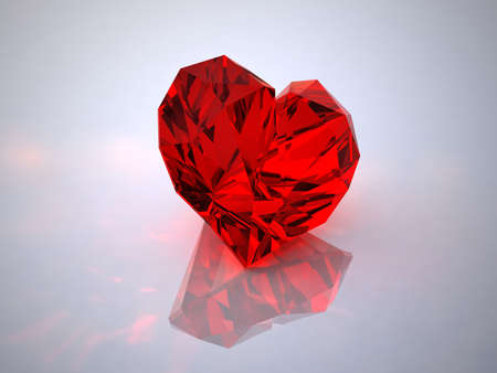 Ruby in the form of heart photo