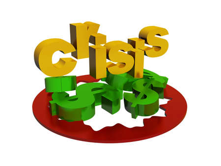 stockmarket: Dollar crisis Stock Photo